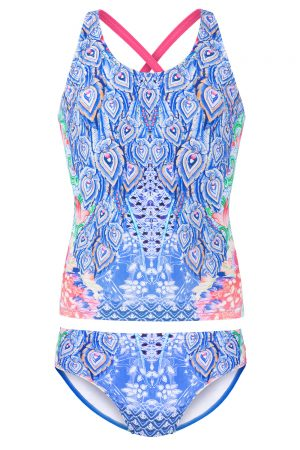 tween swimwear Peacock tankini