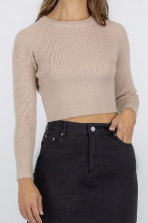 Crystal long sleeve top